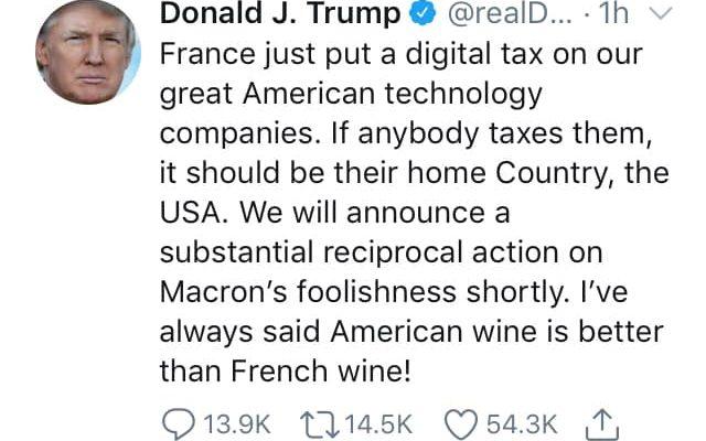 Donald Trump minaccia l'industria del vino francese