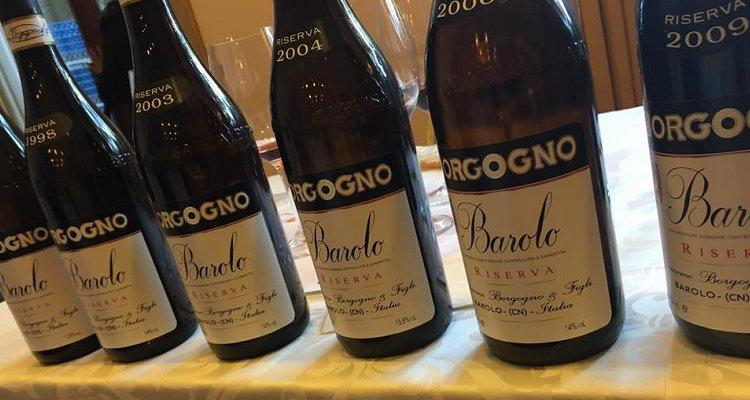 Barolo Borgogno Riserva: una verticale dal 1996 al 2009