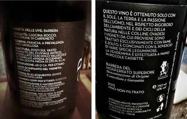 L'etichetta del vino con la spiega. Piace o perplime?