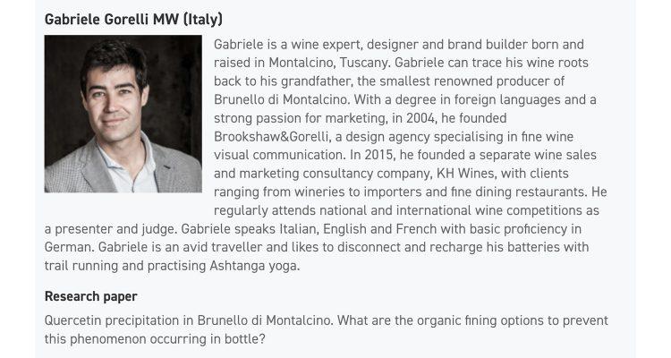 Gabriele Gorelli MW, il primo Master of Wine italiano!