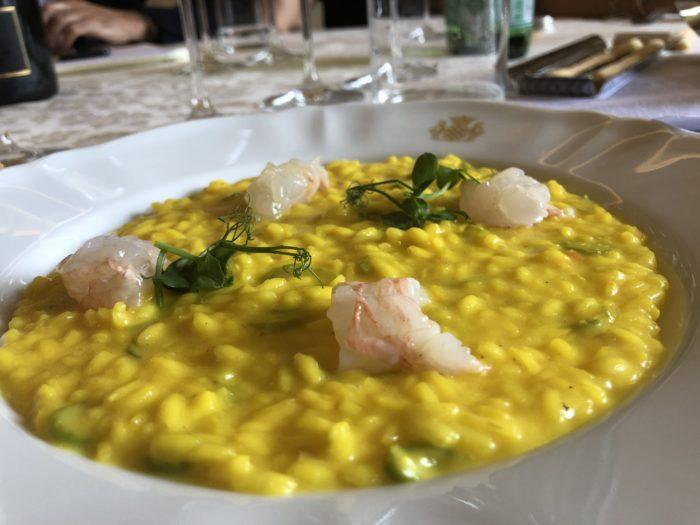 risotto con scampi francesco oberto cherasco