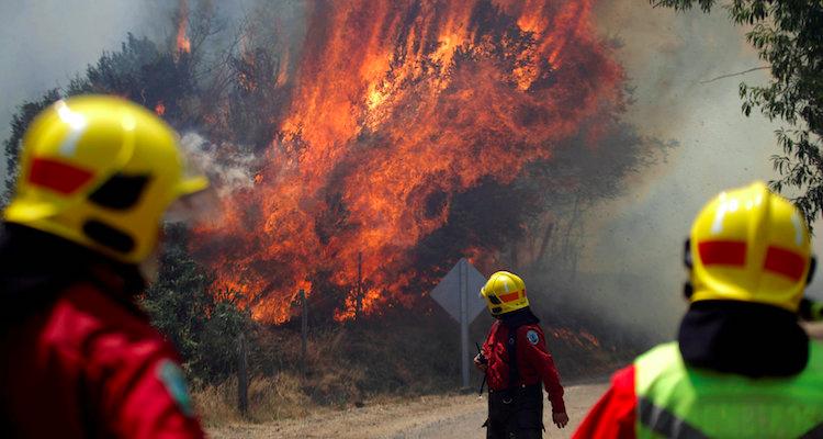 Incendio in Cile