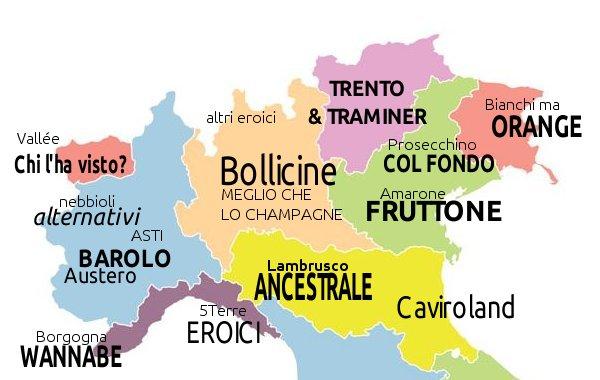 Mappa non ragionata dei luoghi comuni sul vino in Italia. Prima parte: il nord