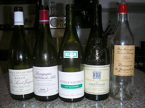 Le bottiglie bevute nel primo giorno di viaggio