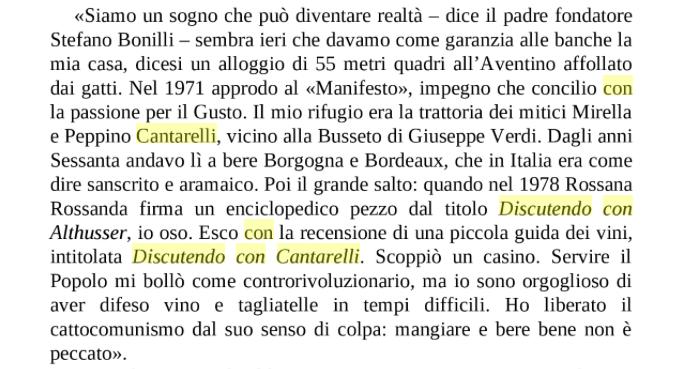 Discutendo con Cantarelli