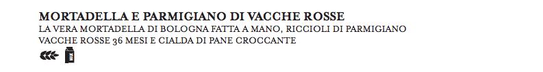 Dal menù