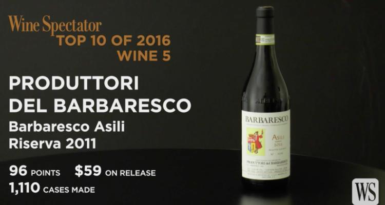 Barbaresco Asili Ris. 2011 PdB wine No. 5 nella Top 100 Wine Spectator. Una cooperativa sul tetto del mondo