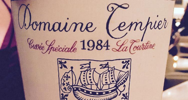 Il Bandol 1984 di Domaine Tempier e l'incognita del tempo (spoiler: ce l'ha fatta)
