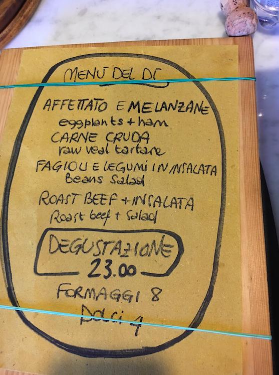 Renza menu
