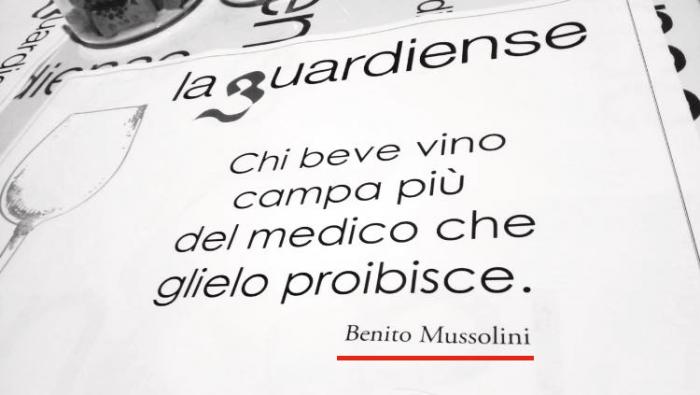 Promuovere Il Vino Citando Benito Mussolini Ci Ha Pensato