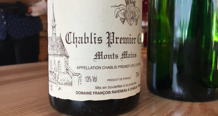 Un vino di Raveneau su cui ci siamo scornati: Chablis Mont Mains 1er cru 2017