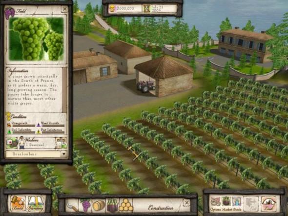 Wine Tycoon - schermata del gioco
