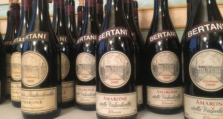 L'Amarone ha cinquant'anni. Verticale storica 1958-2008 da Bertani
