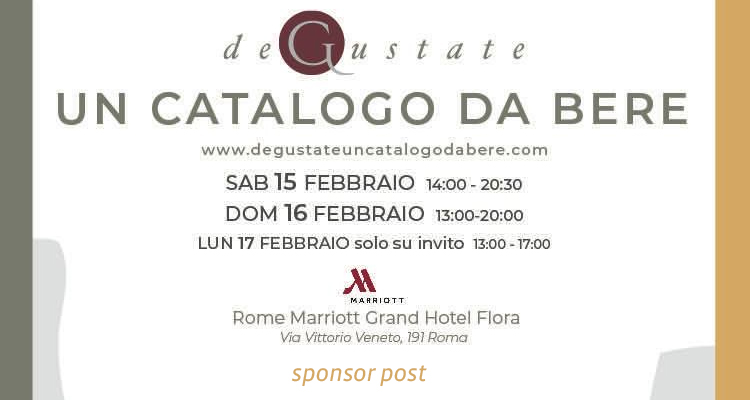 "Save the date: A Roma c'è ""Degustate, un catalogo da bere"""