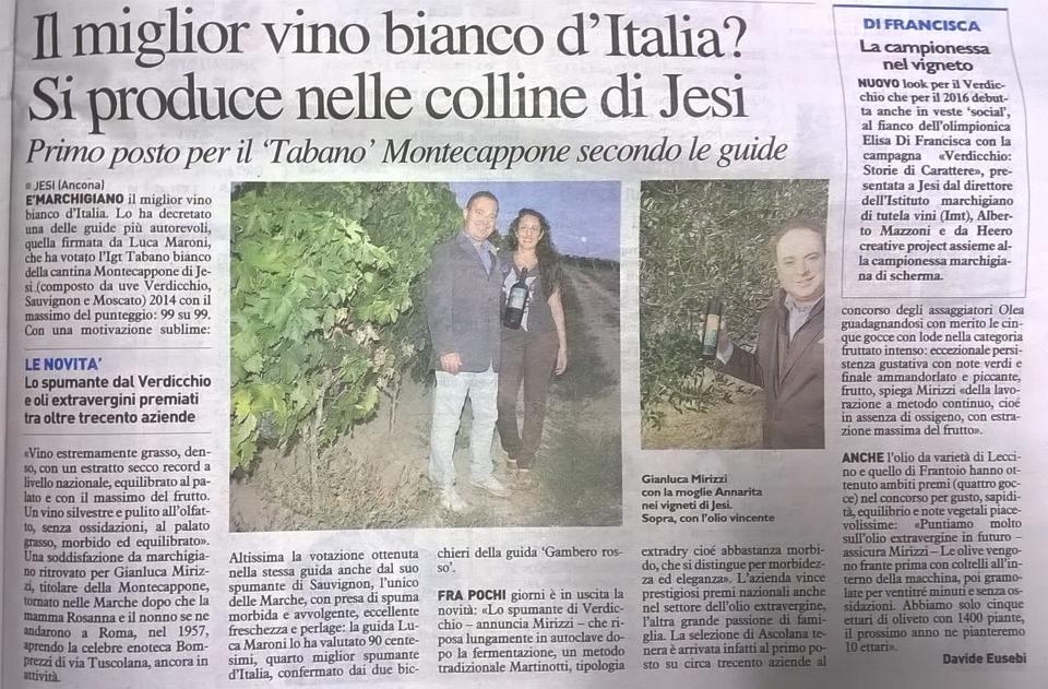 Il Verdicchio di Jesi è il vino bianco più buono d'Italia. Adesso però trova l'intruso